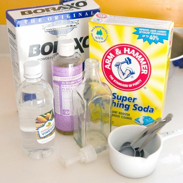 Geschirrspülmittel selber machen nötige Zutaten