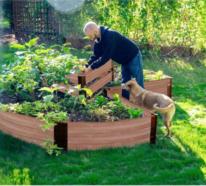 Hochbeet in Schlüssellochform  – der neueste Trend in der Gartenarbeit