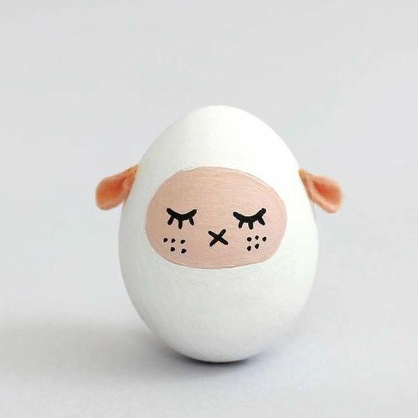 Osterbasteln mit Kindern Osterschaf Ei