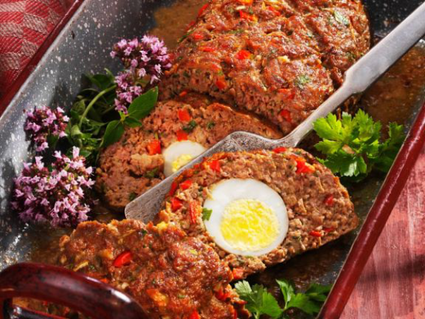 Ostereier verwerten falschen Hasen zubereiten Herzhaftes mit hart gekochten Eiern genießen