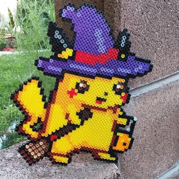 Pokemon basteln mit Kindern – fantastische Ideen und Bastelanleitung bügelperlen pikachu halloween