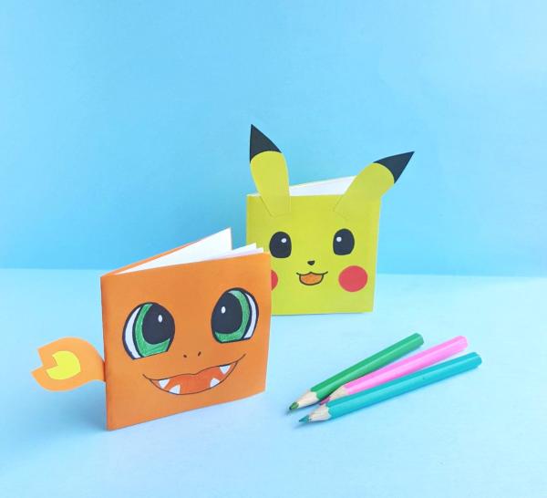 Pokemon basteln mit Kindern – fantastische Ideen und Bastelanleitung notizbücher kind pokemon