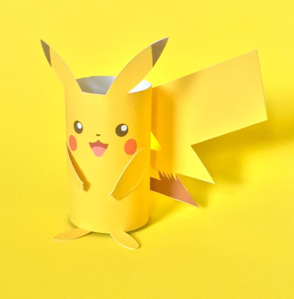 Pokemon basteln mit Kindern – fantastische Ideen und Bastelanleitung pikachu klorolle ideen