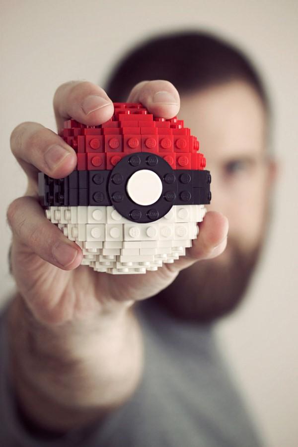Pokemon basteln mit Kindern – fantastische Ideen und Bastelanleitung pokeball aus lego