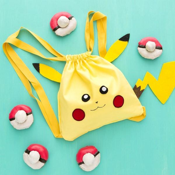 Pokemon basteln mit Kindern – fantastische Ideen und Bastelanleitung schultasche pikachu