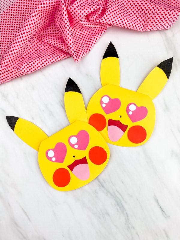 Pokemon basteln mit Kindern – fantastische Ideen und Bastelanleitung valentinstag pikachu