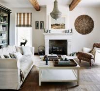 Bezaubernde und romantische Wohnzimmer im Provence-Stil
