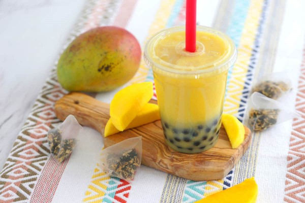 Trendiges Bubble Tea Rezept und köstliche Ideen zum Inspirieren mango tee ideen frucht