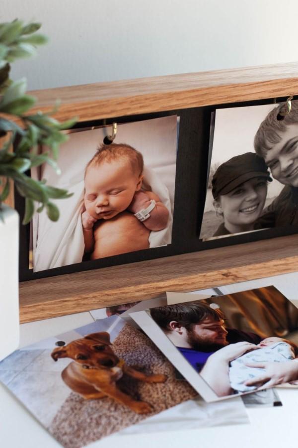 Vatertag Geschenk basteln – Wissenswertes und kreative Bastelideen bilderrahmen diy fotos