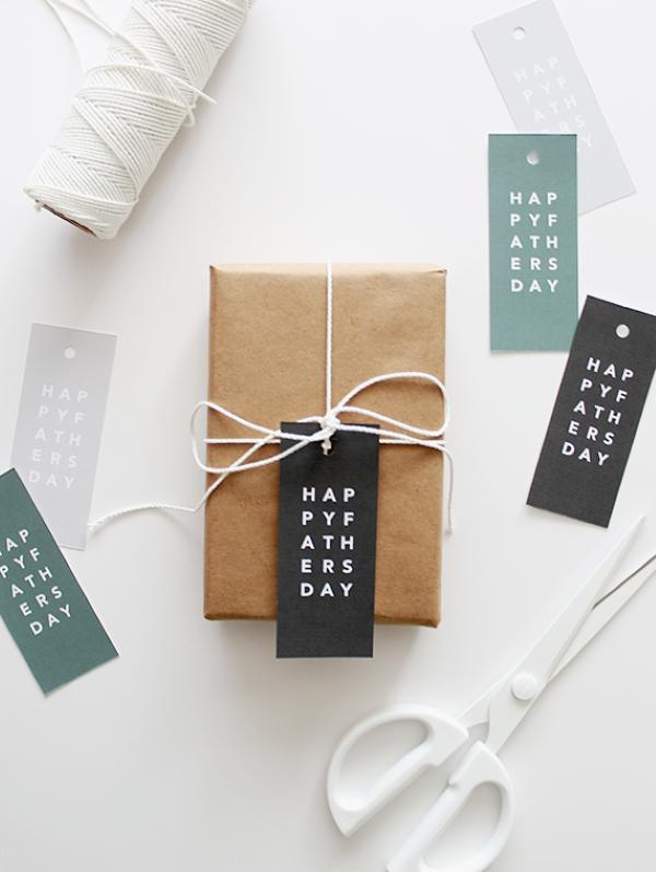 Vatertag Geschenk basteln – Wissenswertes und kreative Bastelideen geschenkverpacking minimalistisch schön