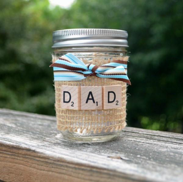 Vatertag Geschenk basteln – Wissenswertes und kreative Bastelideen liebevolle bastelideen einmachglas