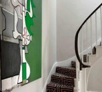 Wandgestaltung Treppenhaus- 42 Einrichtungsbeispiele, Ideen und Anregungen