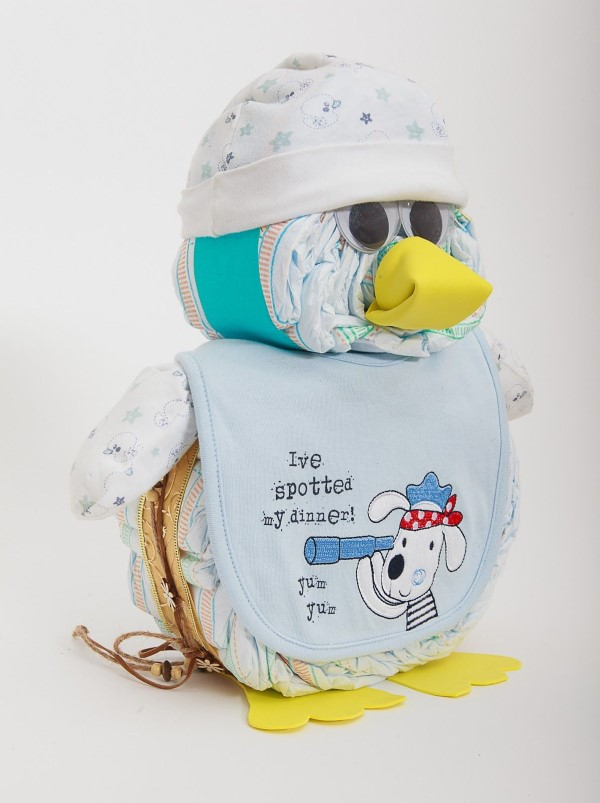 Windeleule basteln – Ideen und Anleitung für Ihre nächste Baby Shower Party windeleule penguin vogel