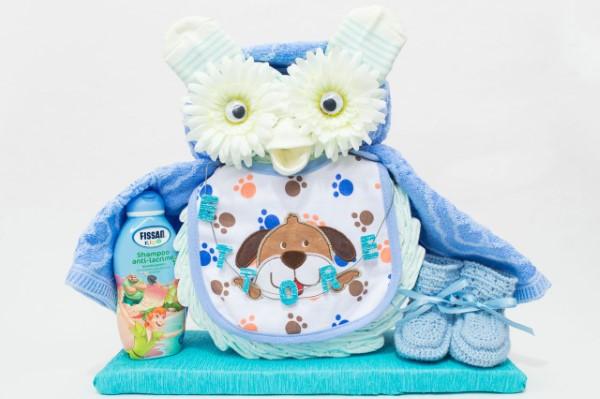 Windeleule basteln – Ideen und Anleitung für Ihre nächste Baby Shower Party windeltorte für jungs blau