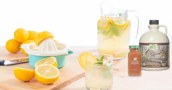 Zitronendiät Entgiftungsgetränk zubereiten Limonade Zitronensaft