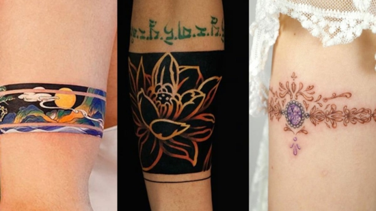 armband tattoo bunte motive demn