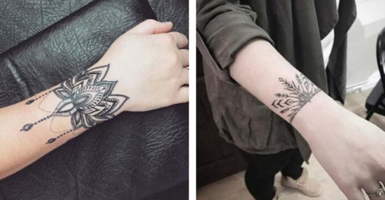 armband tattoo damen lotus
