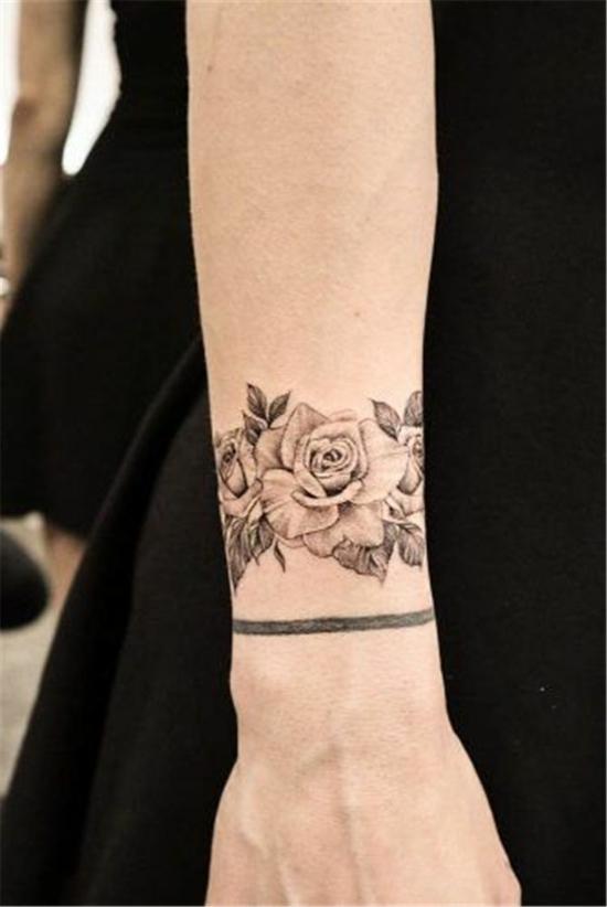 armband tattoo damen rosen
