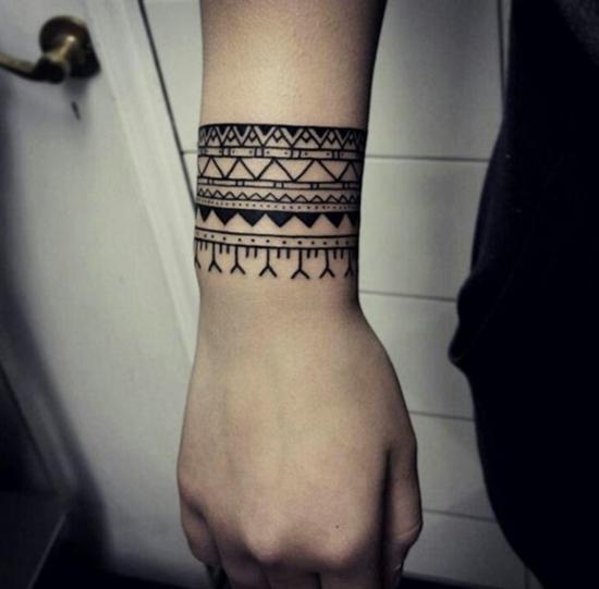 armband tattoo ethno motive