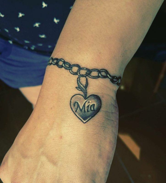 armband tattoo herz schmuck damen