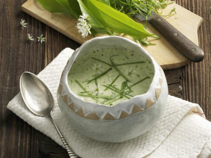 bärlauch rezepte vegan kalte suppe