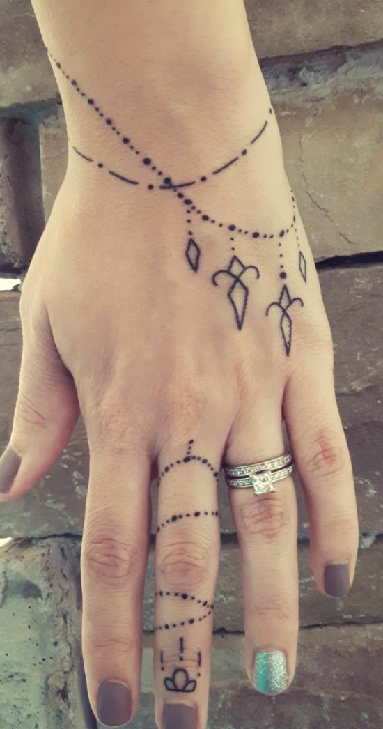 boho armband tattoo damen