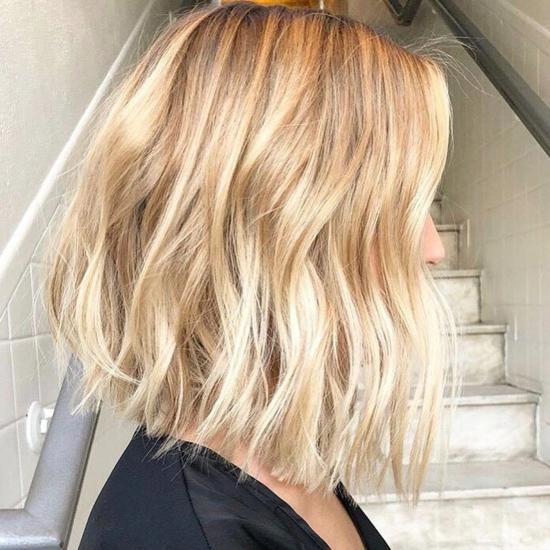 ψιλοκομμένα μακριά μαλλιά bob ξανθά μαλλιά