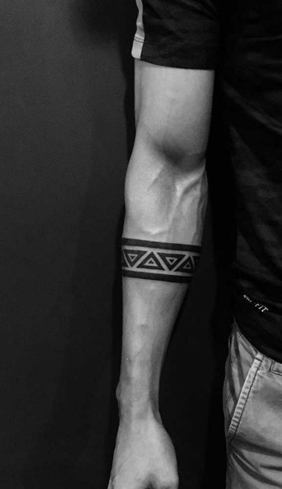 coole armband tattoo geometrische muster