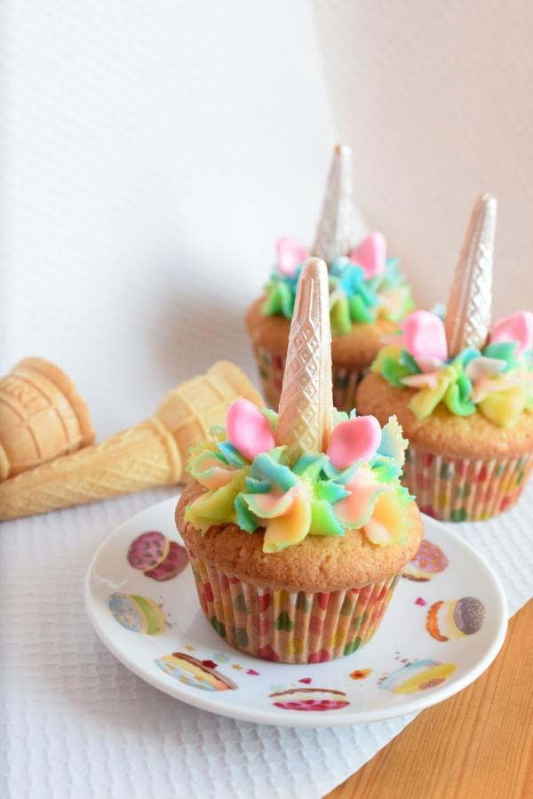 einhorn muffins zum kindergeburtstag