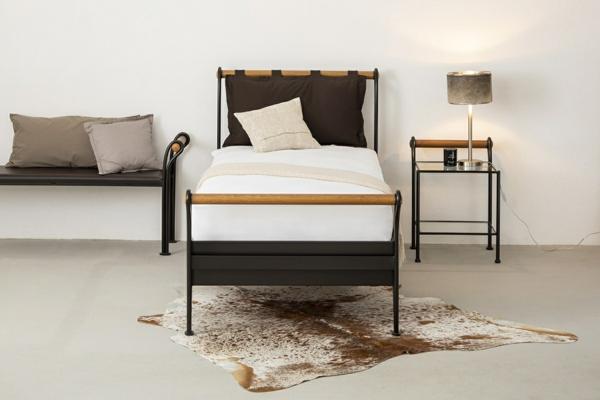 einzelbett metallbett italienischer stil