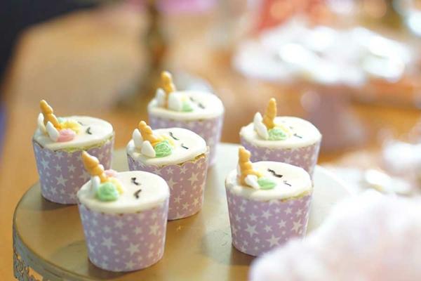 fabelhafte einhorn muffins kindergeburtstagsparty