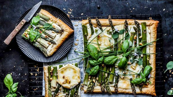 flammkuchen zubereiten rezepte mit grünem spargel