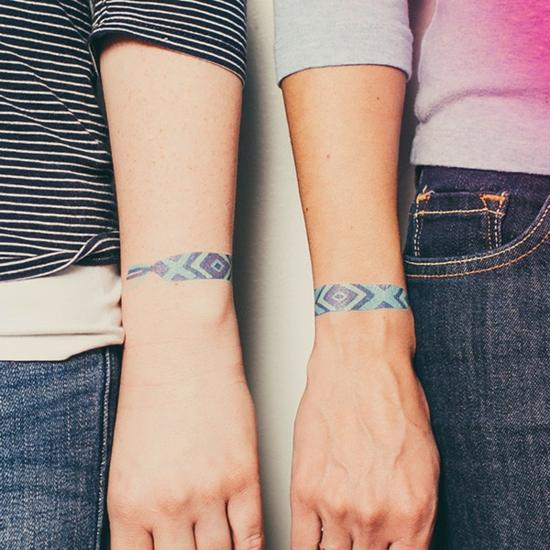 freundschaftstätowierung armband tattoo ethno