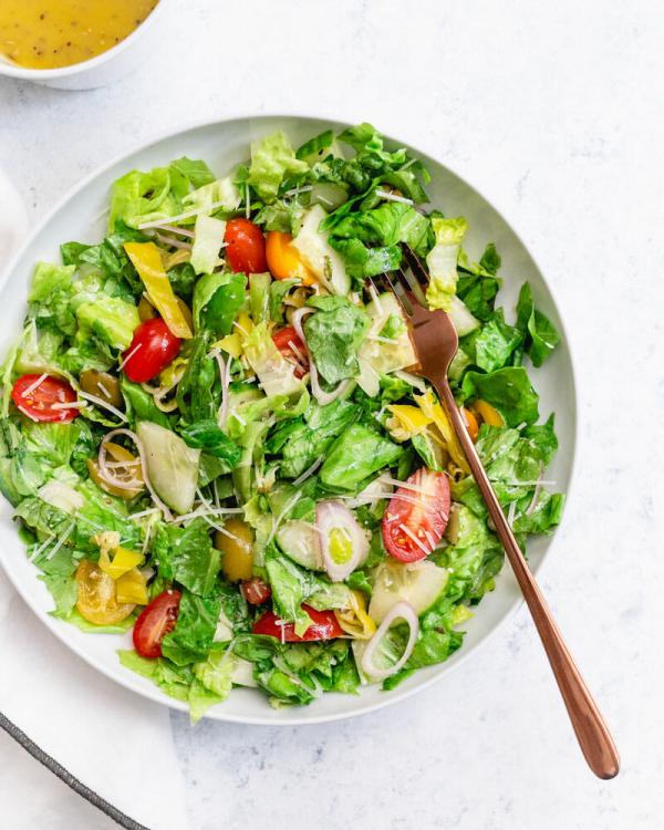 gesund abnehmen täglich einen frischen Salat essen die Formel für gesunde Gewichtsabnahme
