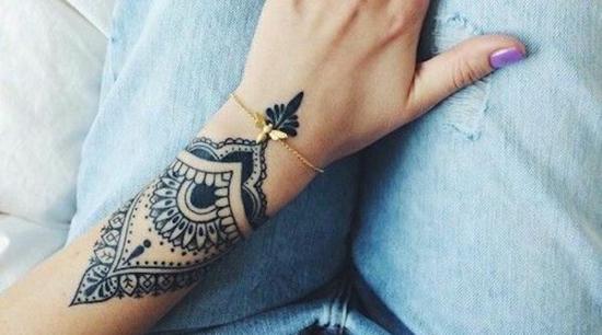 henna muster armband tattoo damen