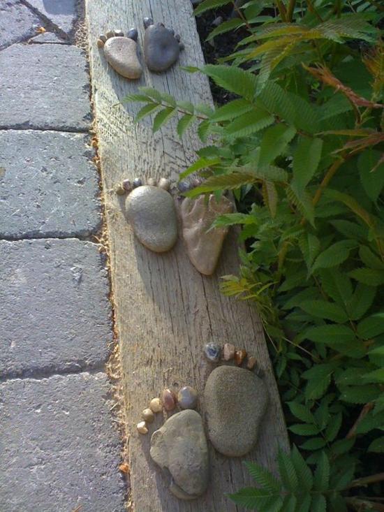 holz beeteinfassung steine