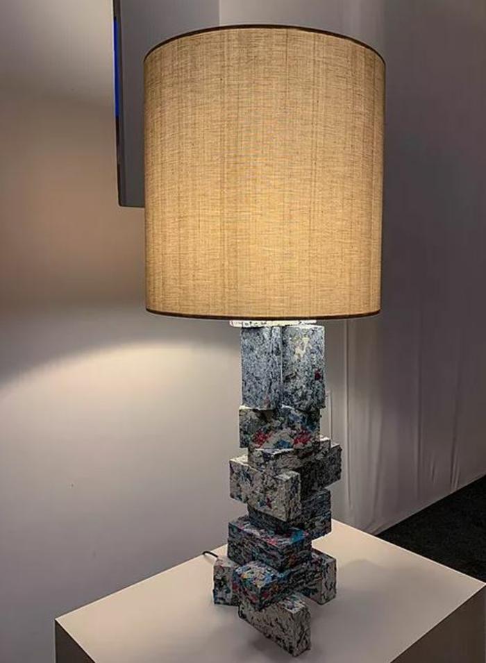 kleidung recycling bausteien deko ideen lampen