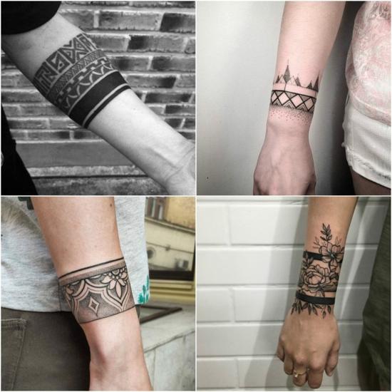 männer armband tattoo ideen maori tätowierung