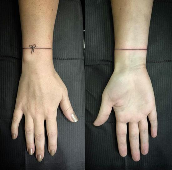micro armband tattoo damen