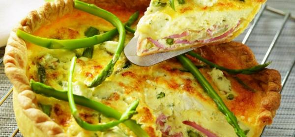 quiche zubereiten rezepte mit grünem spargel