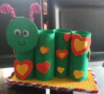 Raupe basteln mit Kindern – 37 einfache Bastelideen für den Frühling