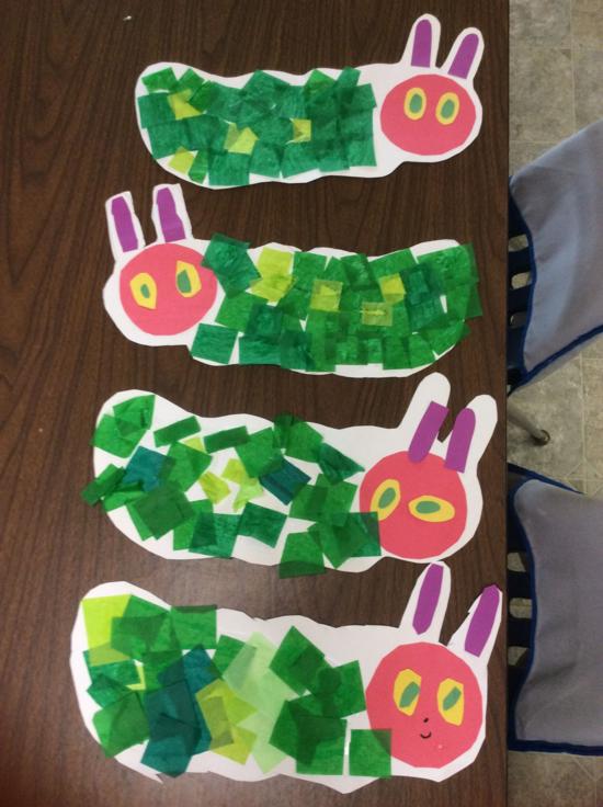 raupe basteln mit kindern aus papier