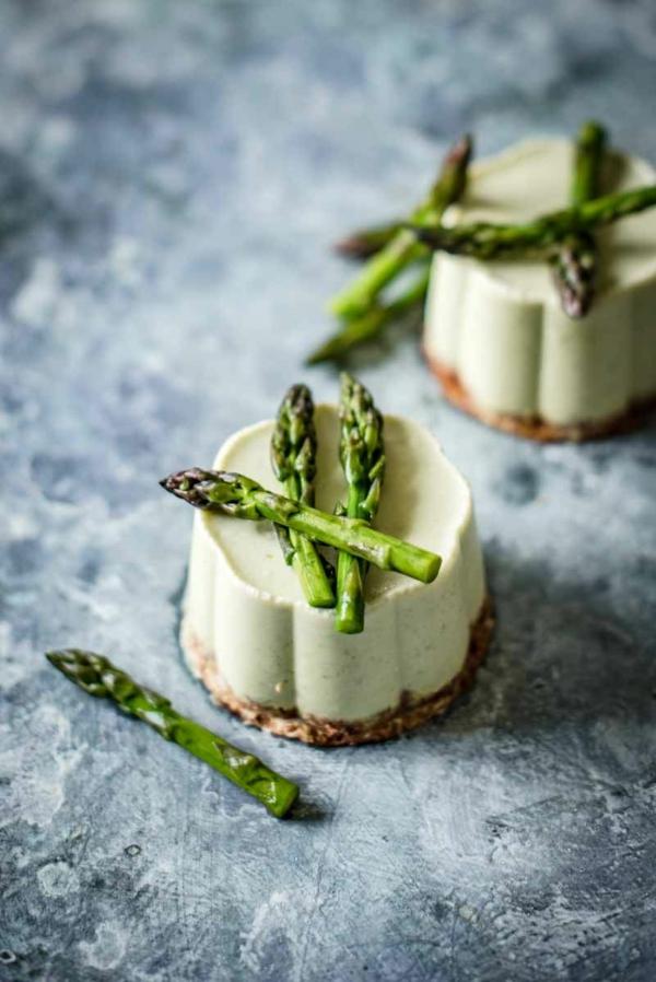 rezepte mit grünem spargel dessert törtchen mit panna cotta