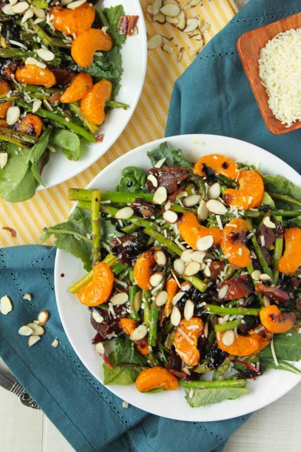 rezepte mit grünem spargel salat speck orangen nüssen