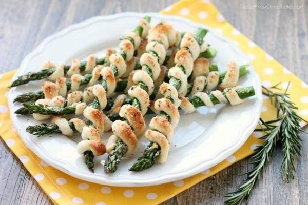 rezepte mit grünem spargel teig spiralen
