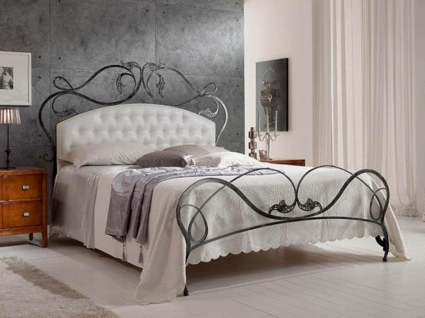 romantisches schlafzimmer metallbett