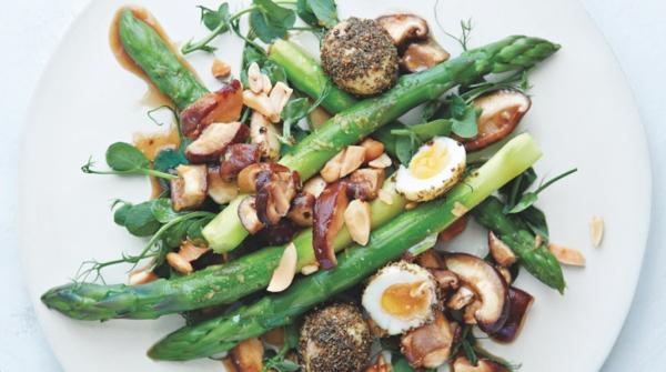 salat rezepte mit grünem spargel und pilyen
