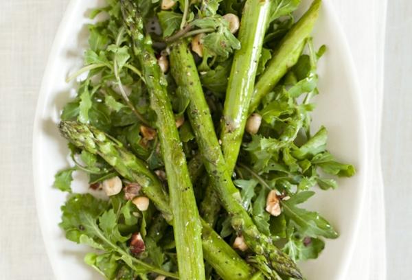 veganer salat rezepte mit grünem spargel