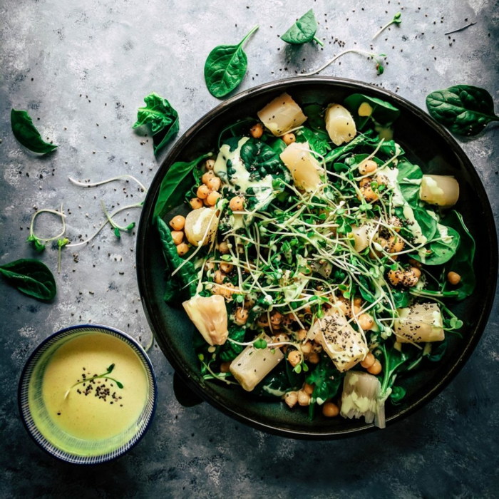 weißer spargel rezepte spinat