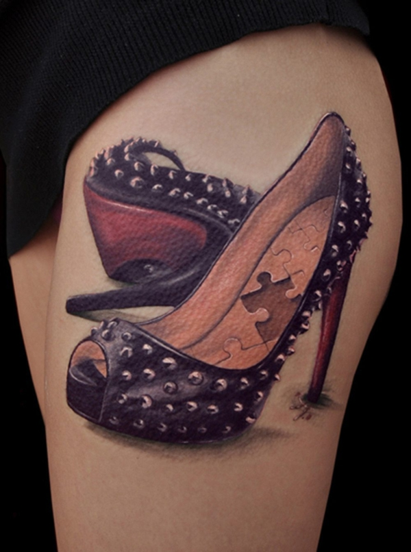 3d tattoo oberarm damenschuhe